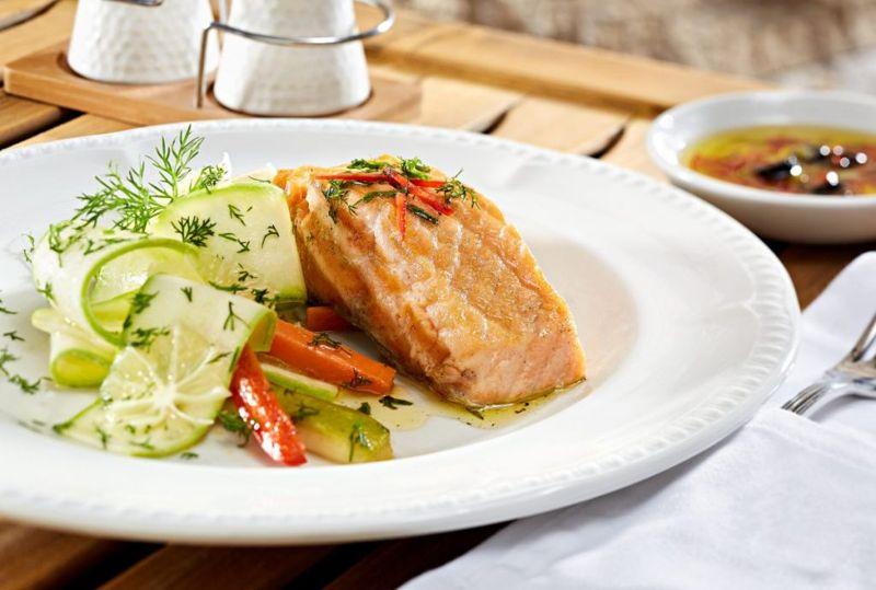 basic grilled salmon lemon dill