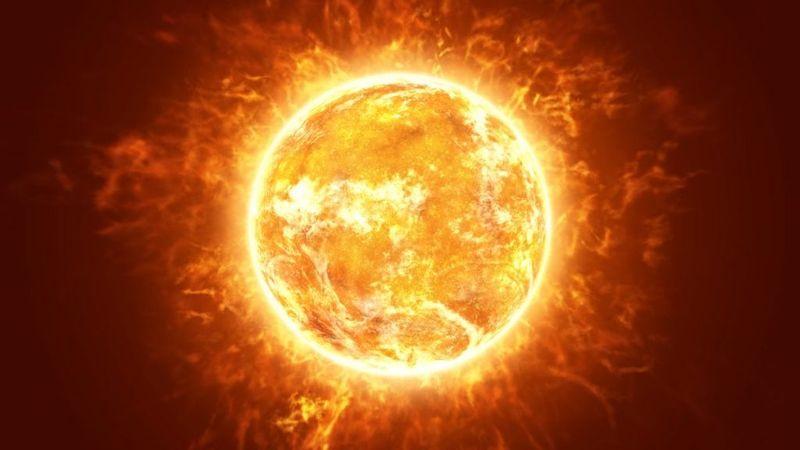 science sun color image false