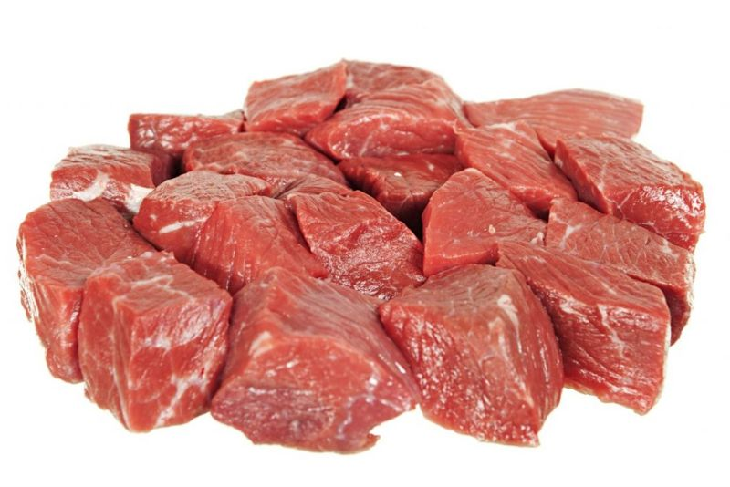 goulash stew beef cubes fresh