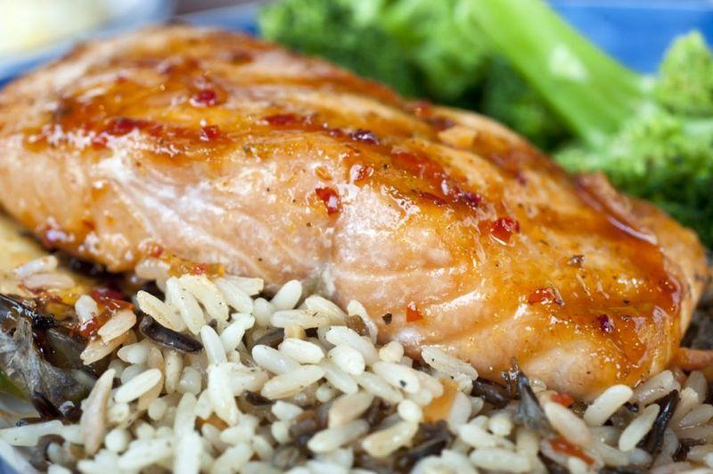 spicy grilled salmon glazed