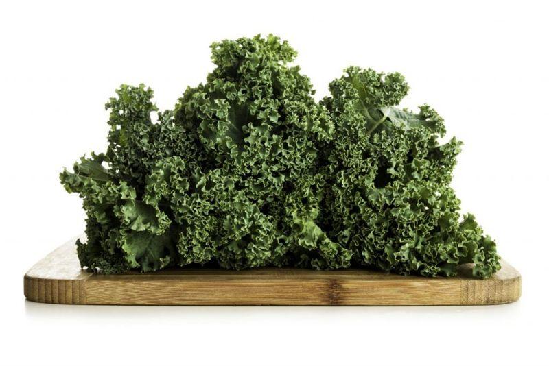 Kale on the cutting board