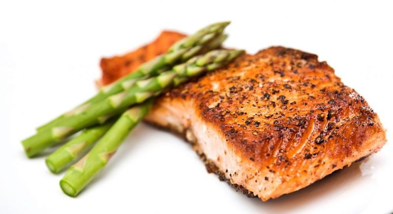 cajun spicy salmon asparagus grilled