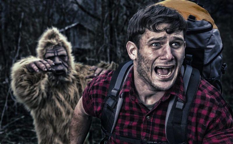 bigfoot chasing camper