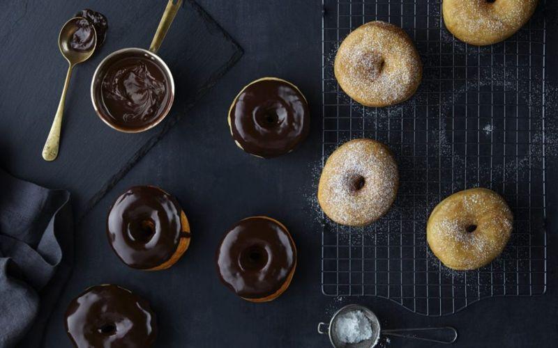 frying coconut donut