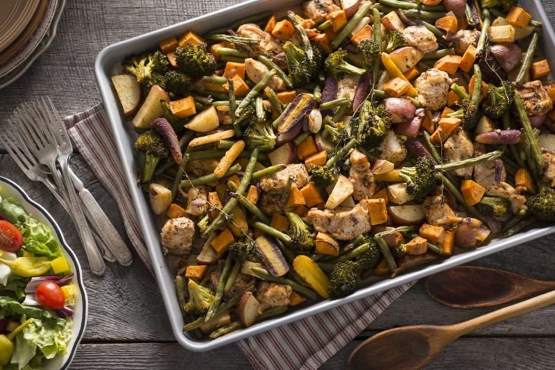 Roasted Chicken Vegetables