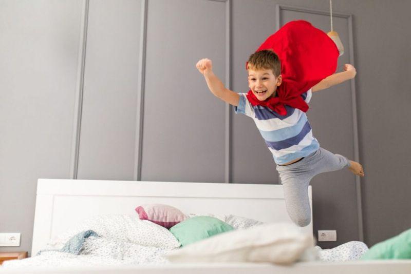 superman kid flying