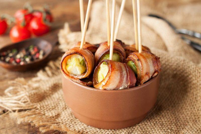 Bacon Vegetable Sushi