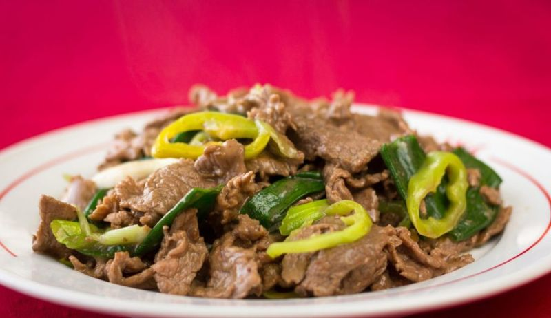 mongolian beef spicy peppers