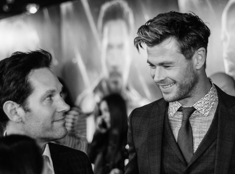 """Chris Hemsworth attend the UK Fan Event to celebrate the release of Marvel Studios' """"Avengers: Endgame"""" at Picturehouse Central on April 10, 2019 in London, England."""
