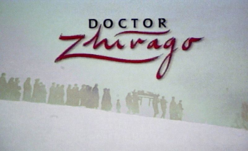 """A video view of the film """"Doctor Zhivago"""" appears at the PBS Summer 2003 TCA Press Tour at the Hollywood Renaissance Hotel July 11, 2003 in Hollywood, California."""