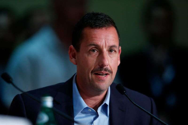 """Actor Adam Sandler attends the """"The Meyerowitz Stories"""" press conference during the 70th annual Cannes Film Festival at Palais des Festivals on May 21, 2017 in Cannes, France."""