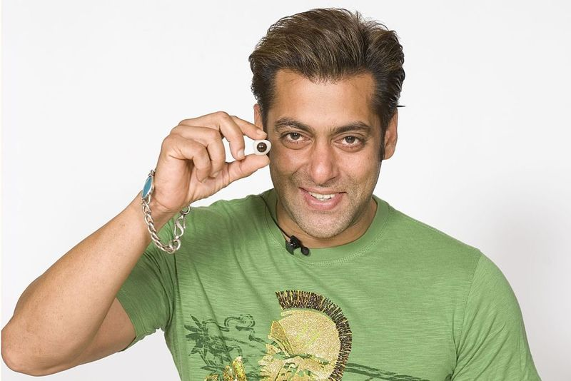Bollywood Actor Salman Khan shows an eye used for his new waxwork figure at Madame Tussauds on January 15, 2008 in London, England.