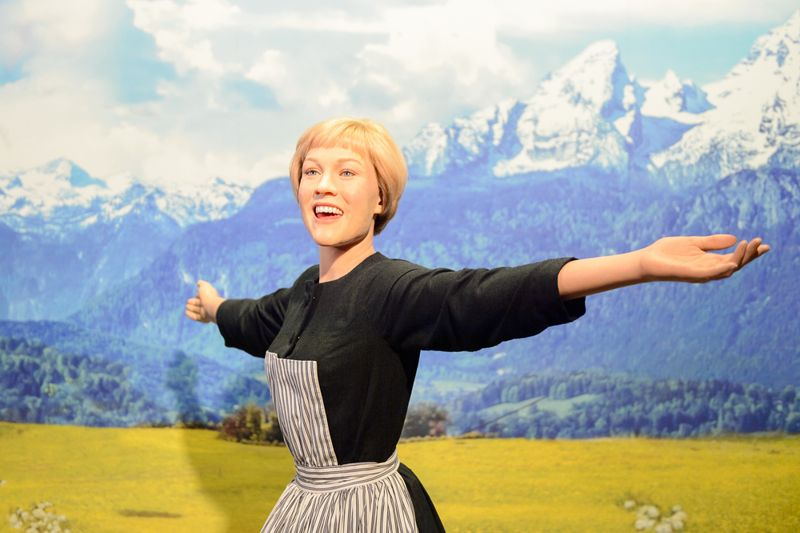 Julie Andrews as Maria von Trapp from the Sound of Music, Madame Tussauds wax museum in Vienna