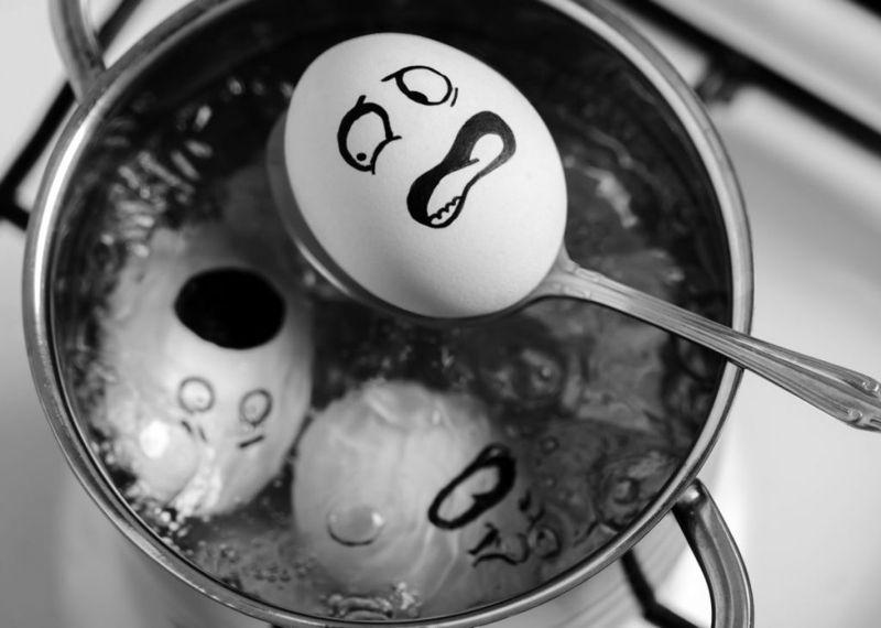 boiled egg water