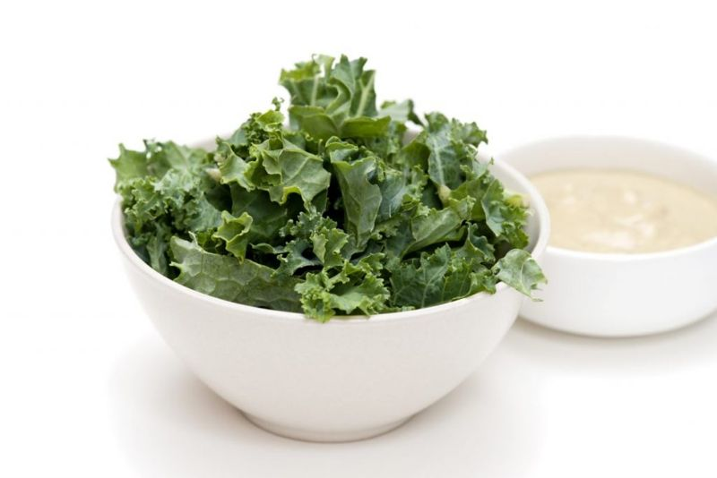 Kale is a great base for salad toppings