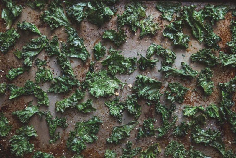 Use a sheet pan to make kale chips