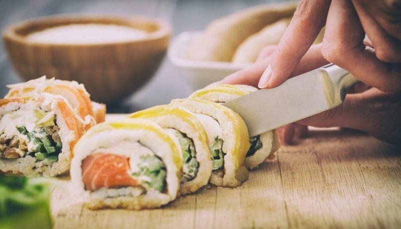 Futomaki sushi large roll Japanese food