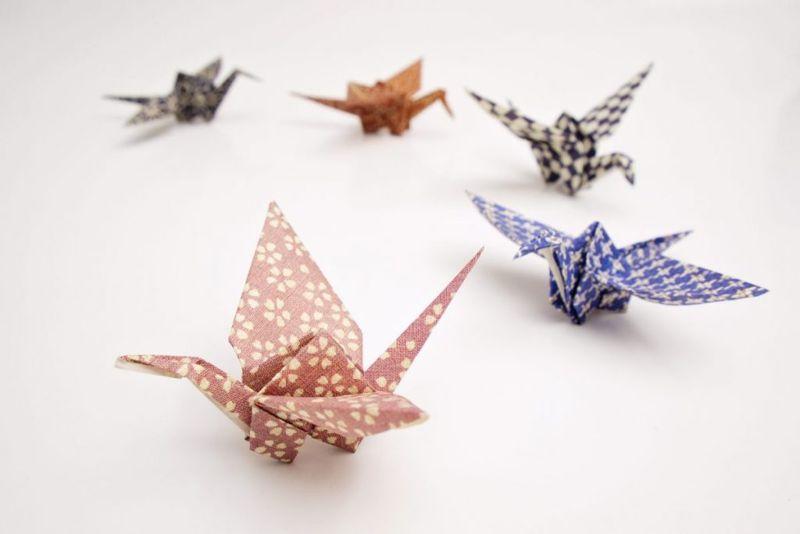 origami materials cranes