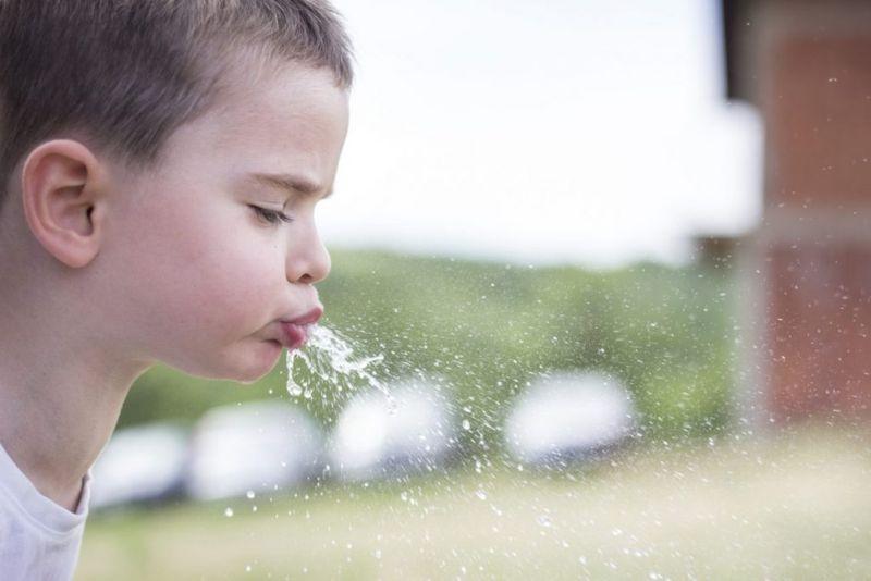 behaviors associated with saliva