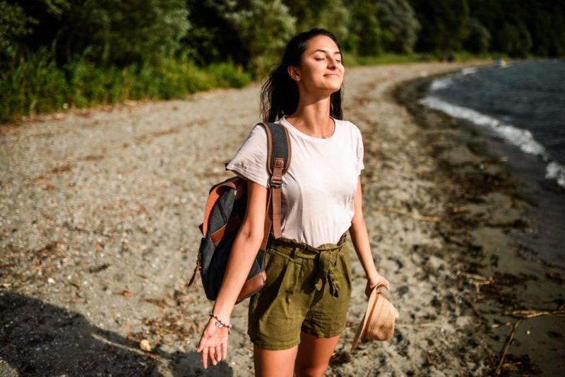 woman meditation outdoors
