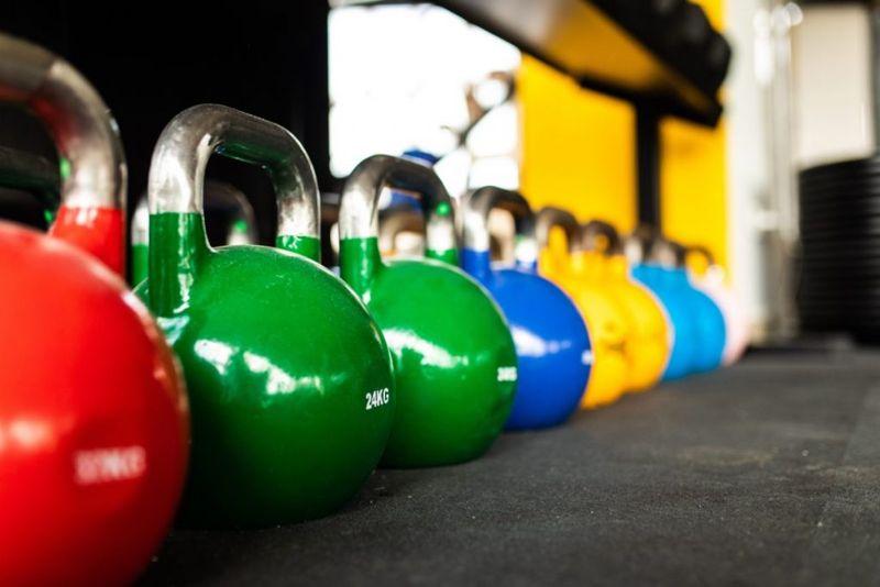 Multicolored ketel bells