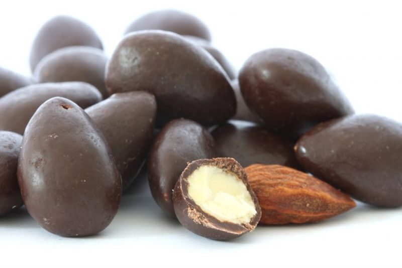 chocolate coated almonds dogs