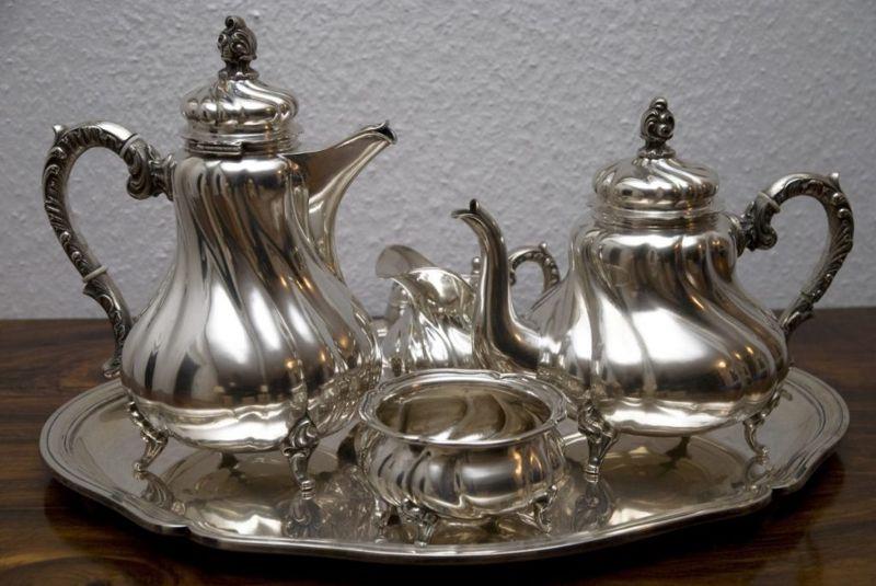 Silver polish gets your tea set looking good