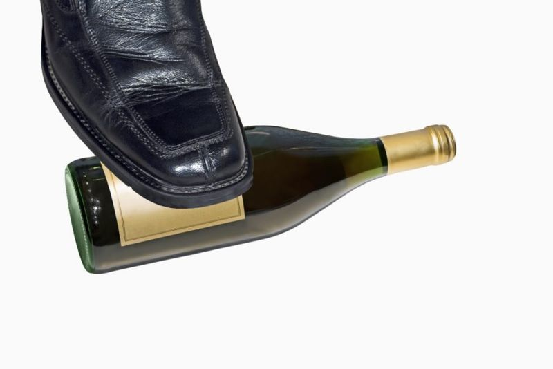 sneaker shoe wall bottle