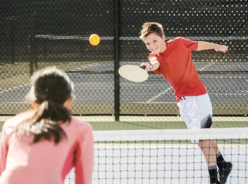 pickleball, all ages, older, young, players