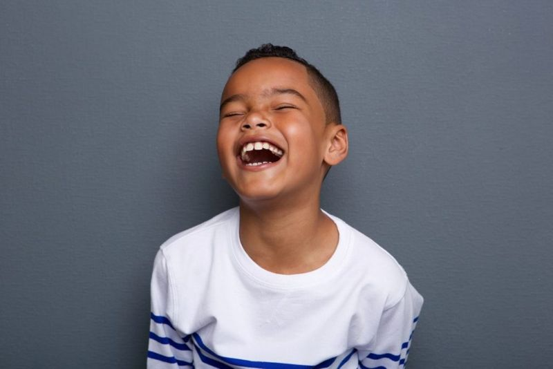 Little boy laughing