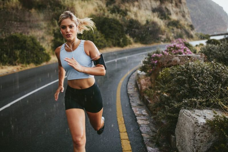 vigorous exercise running