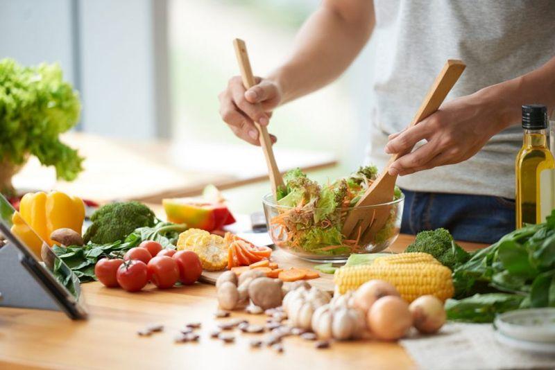 High-fiber, low-fat diet
