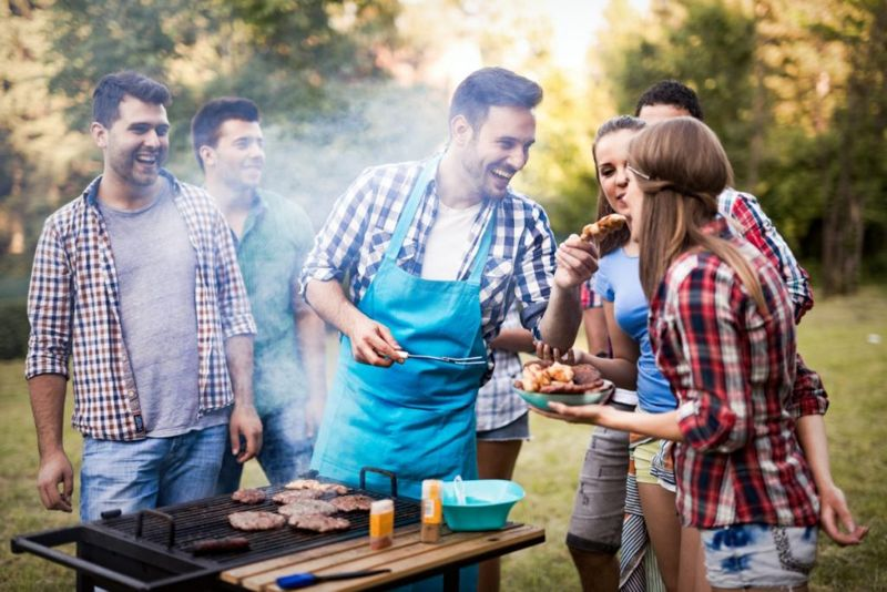 Grilling with friends