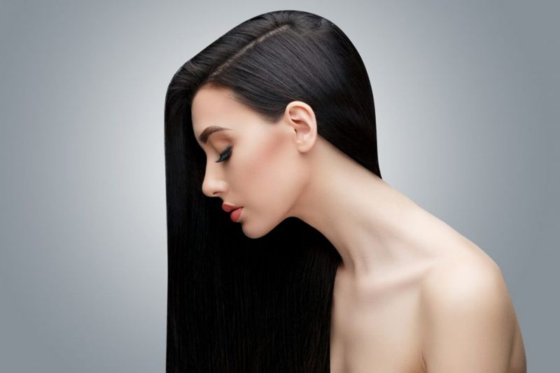 long straight sleek glossy hair