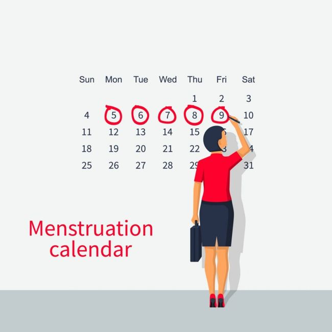Menstrual-cycle records fluctuations