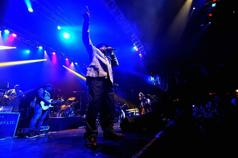 BOSTON, MA - AUGUST 19: George Clinton & Parliament Funkadelic perform at House of Blues on August 19, 2016 in Boston, Massachusetts.