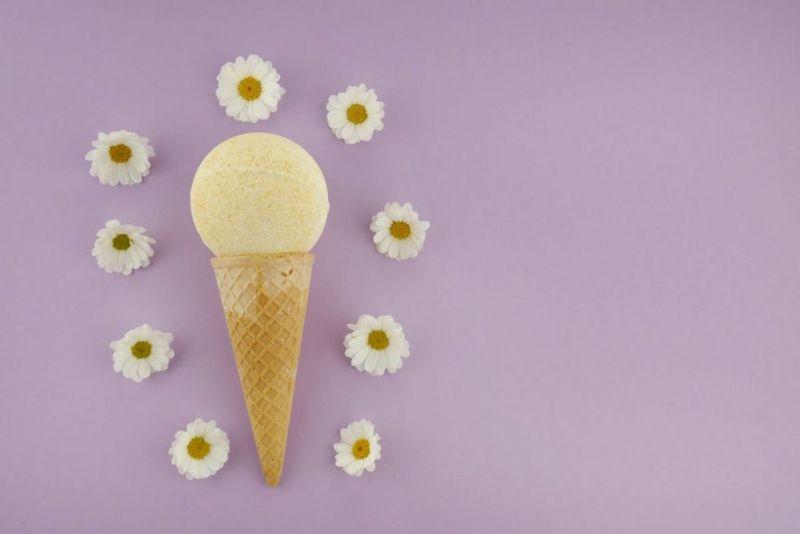 ice cream, scoops, cone, sprinkles