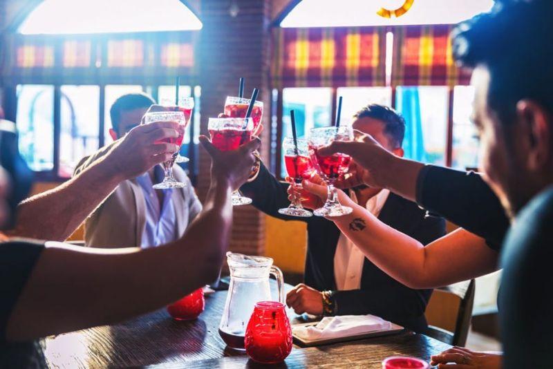 friends drinking sangria