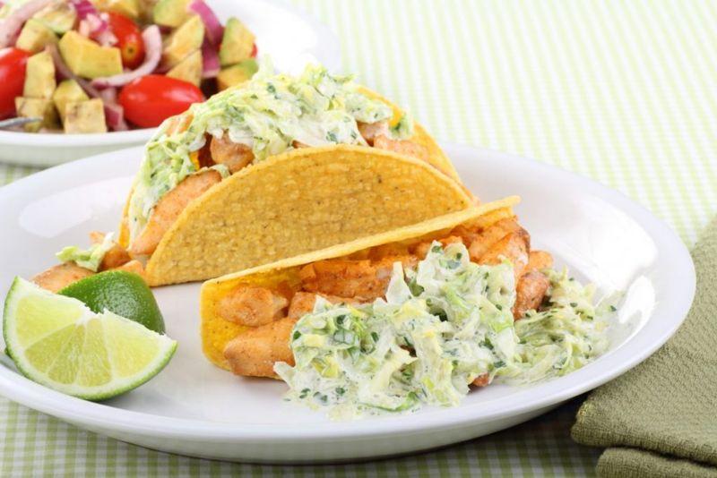 mango cilantro fish taco