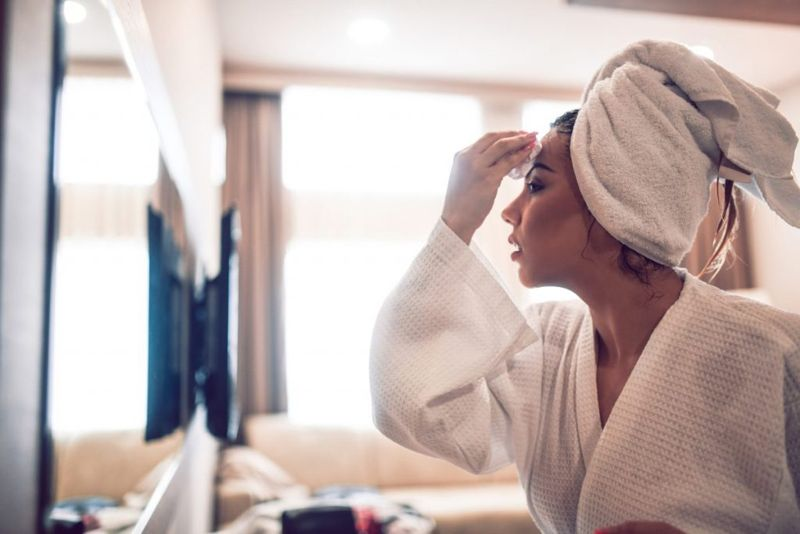 towel, plopping, cotton shirt, curly