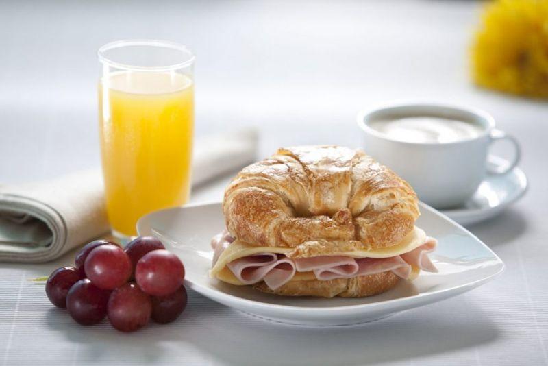 croissant ham cheese breakfast brunch