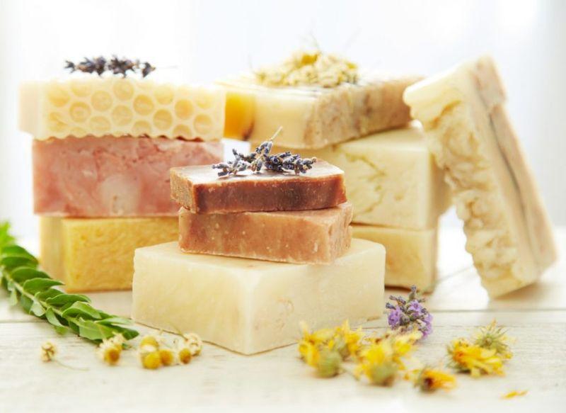 hot process soap, handmade soap