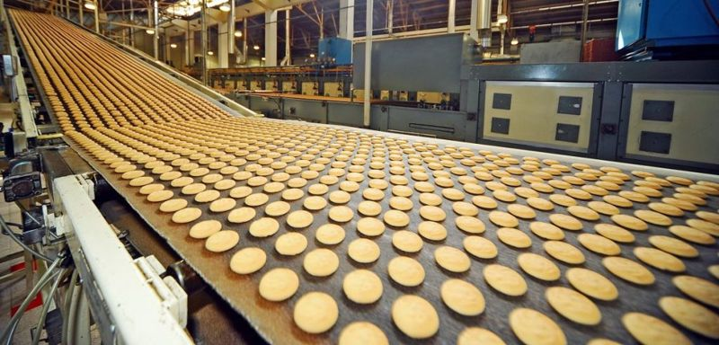 production line of biscuits