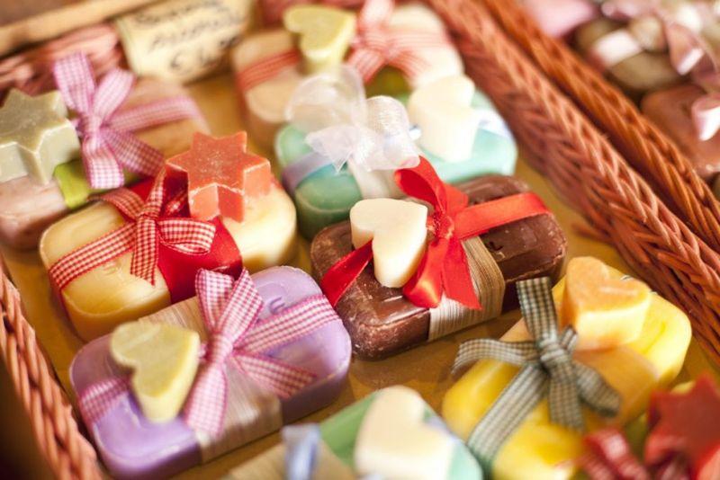 pretty bars of soap