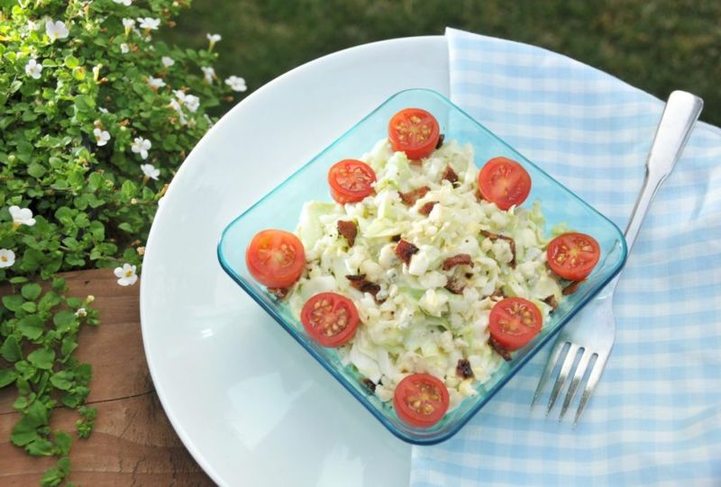 blue cheese bacon coleslaw