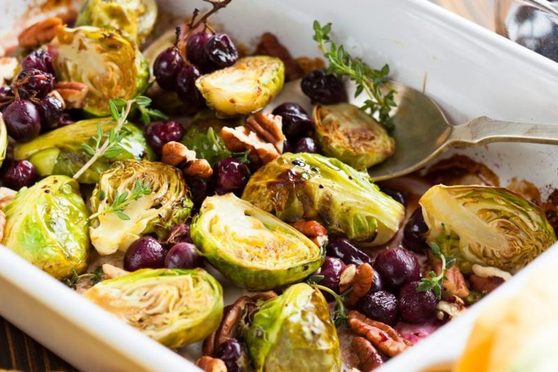 brussels sprouts grapes