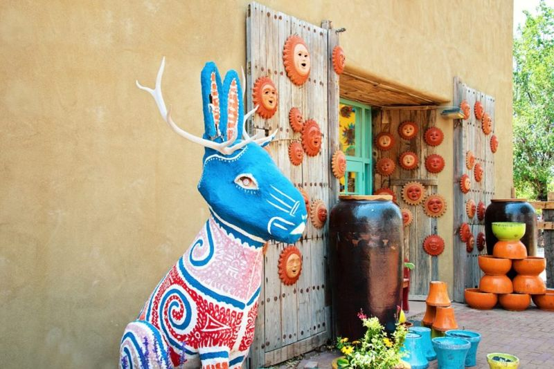 Jackalope statue at Mexican market