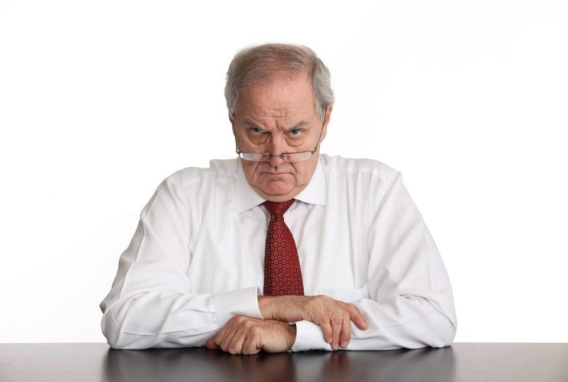 angry boss work