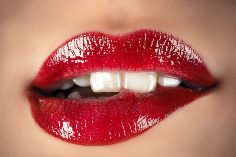 sensual lips closeup
