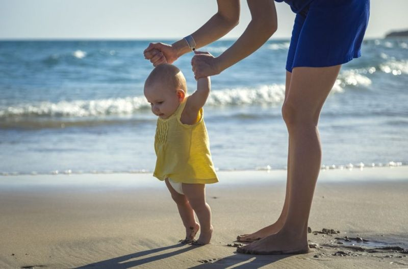 children walk toes